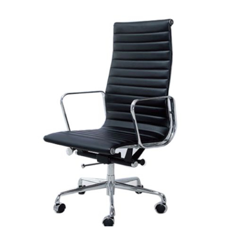 Kliig Herma high/low back leather/full mesh chair