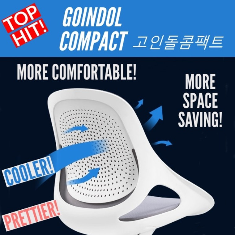 [READY STOCK!] KLIIG GOINDOL COMPACT (New compact version of our best-selling Goindol White Shell ergonomic chair. More space-saving! More comfortable! Cooler! Prettier!)