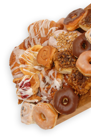 Pastry Assortment Displayed on Cutting Board