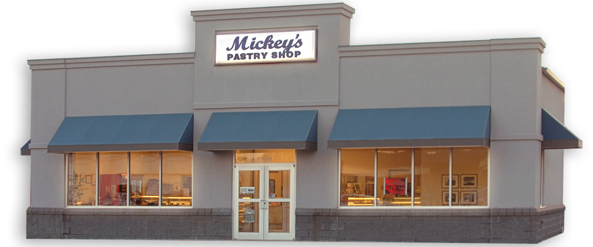 Front View of Mickey's Pastry Shop