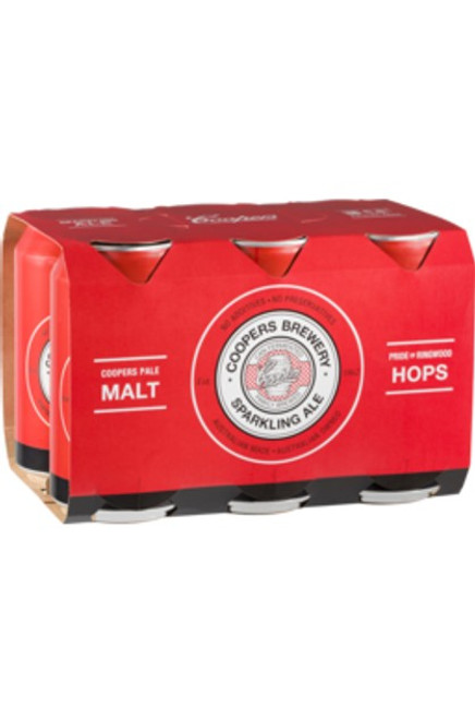 Coopers Sparkling Ale 375ml (6 Cans)