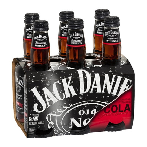Jack Daniels 4.8% 300ml (6 Bottles)