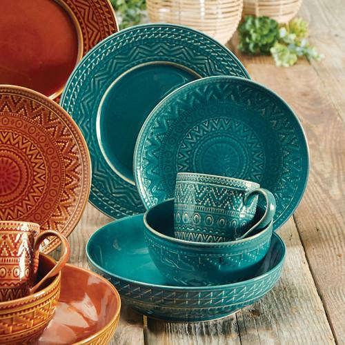 Sedona Sunrise Teal Dinnerware Collection