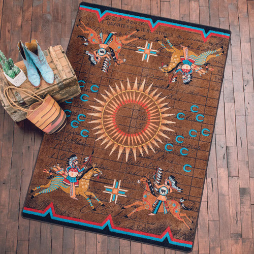 Battle Records Brown Rug Collection