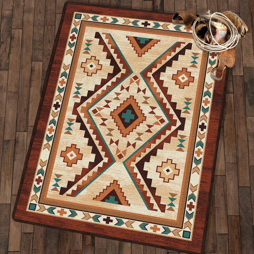 Angel Fire Tan Rug Collection