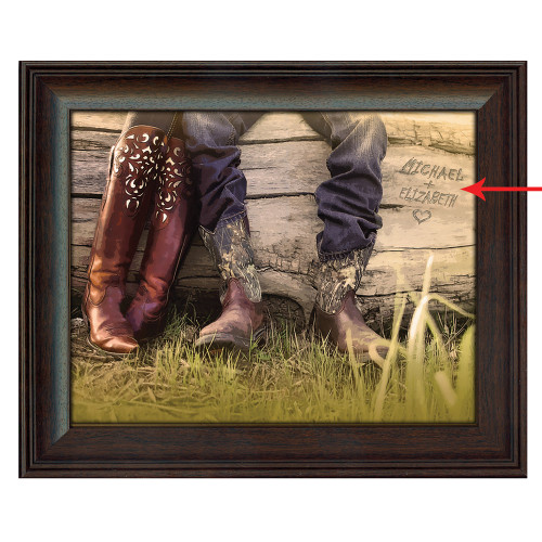 Personalized Boot Love Framed Canvas