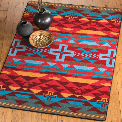Rustic Cross Sunset Rug Collection
