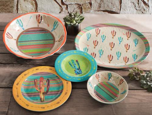 Cactus Design Melamine Dinnerware