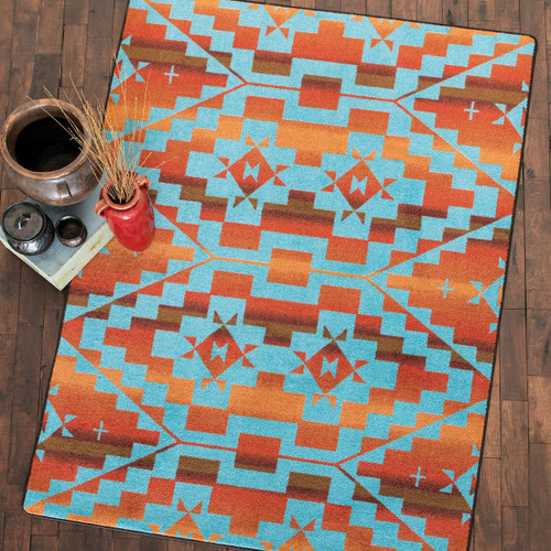 Sacred Trail Red Burst Rug Collection