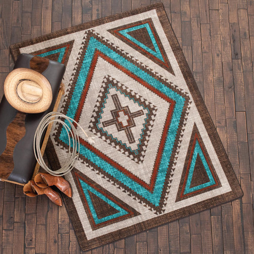 Southwest Nights Turquoise Rug Collection