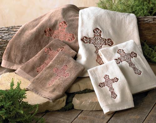 Spanish Cross Towel Sets - 3 pcs