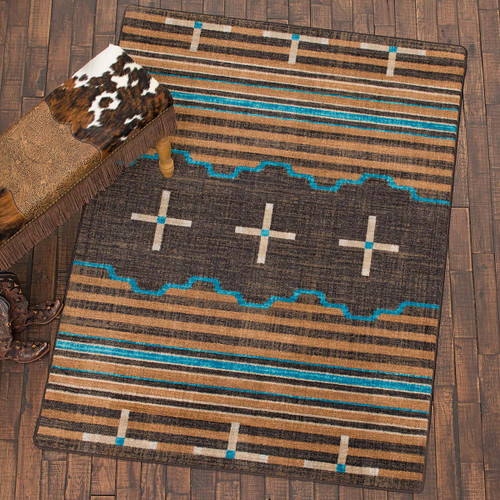 Three Chiefs Suede & Teal Rug Collection