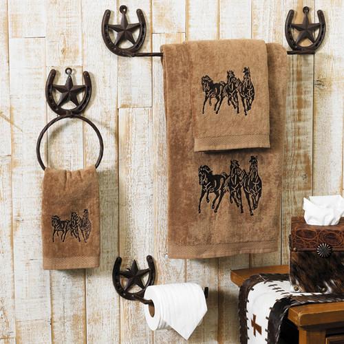 Running Horse Towel Set