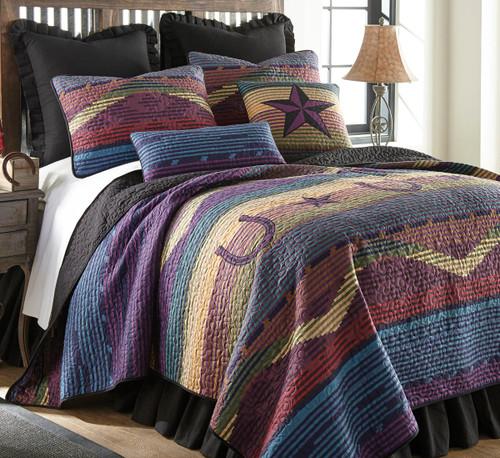 Texas Sky Star & Horseshoe Quilt Bedding Collectio