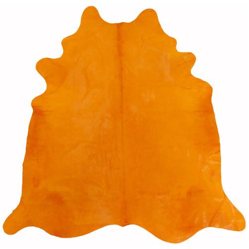 Citrus Orange Dyed Cowhides