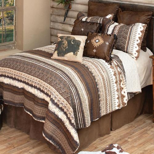 Southwest Mocha Quilt Bedding Collection