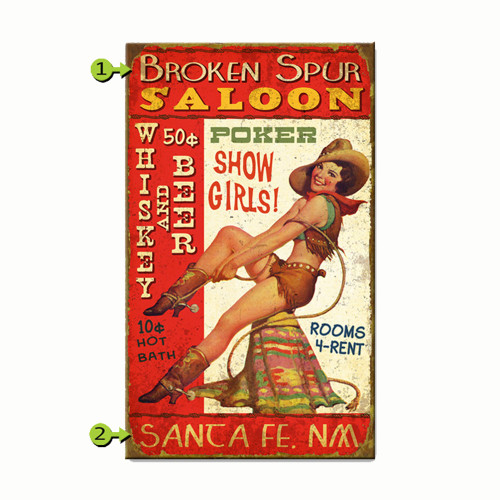 Pin-up Personalized Signs