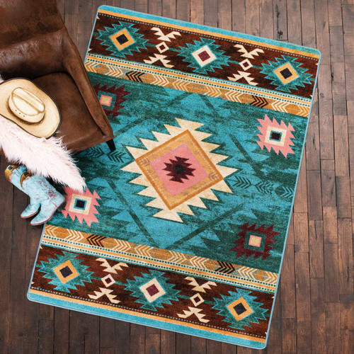 Diamond Creek Turquoise Rug Collection
