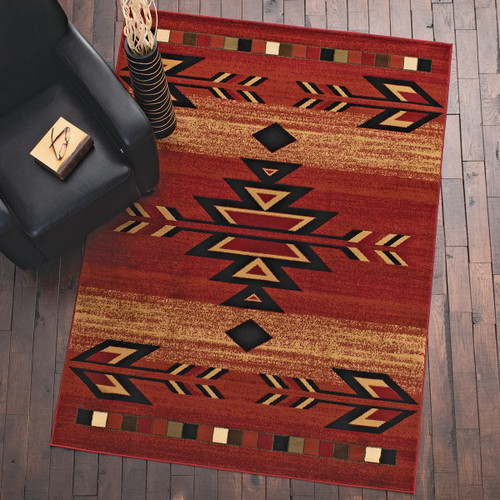 Santa Fe Claret Rug Collection