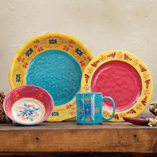 Southwest Bloom Melamine Dinnerware