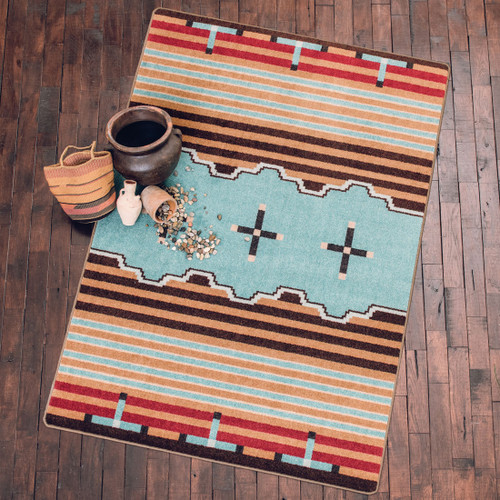 Big Chief Turquoise Rug Collection