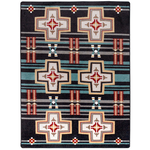 Grand River Black Rug Collection