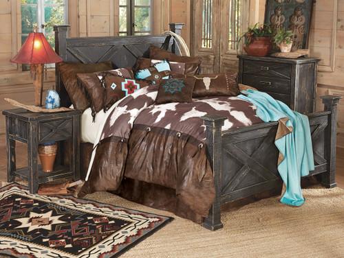 Barnwood Double X Bedroom Collection