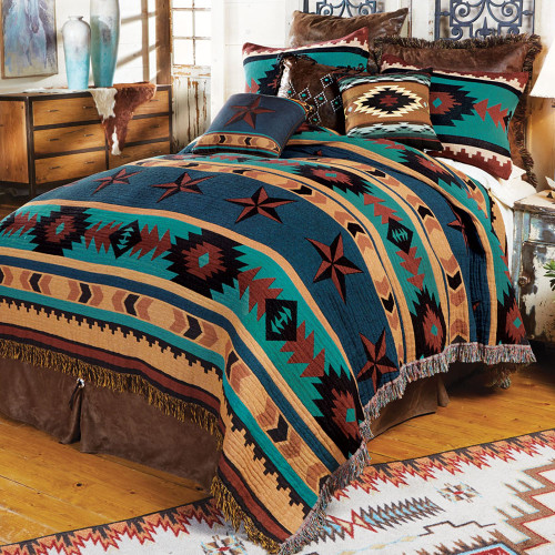 Turquoise Desert Tapestry Bedding Collection
