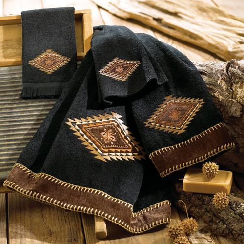 Mojave Black Towels