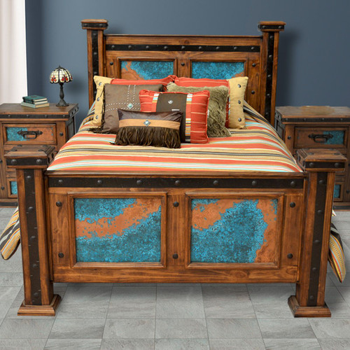 Turquoise Patina Copper Bedroom Furniture