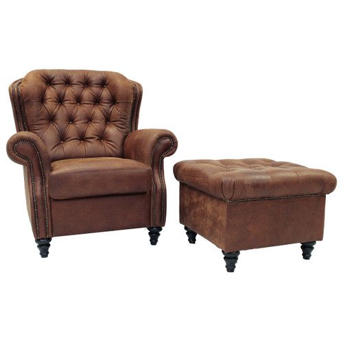 Sitara Leather Chairs & Ottomans