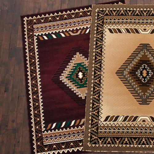 Diamond Mesa Burgundy Rug Collection