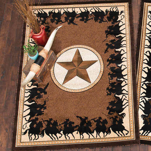 Lone Star Riders Chocolate Rug Collection