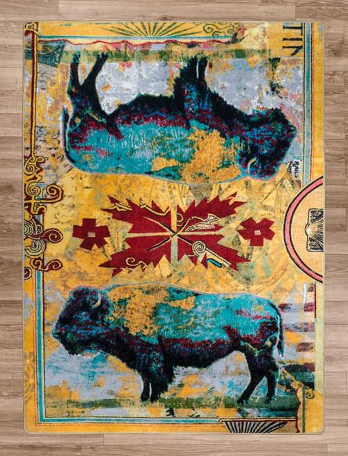 Golden Buffalo Rug Collection