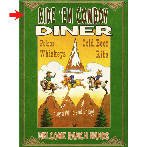 Cowboy Diner Personalized Signs