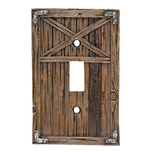 Rustic Barn Door Switch Covers