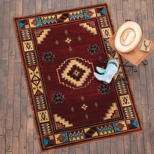 Native Vibes Southwest Burgundy Rug Collection