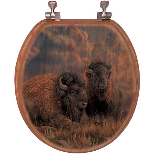 Great Plains Bison Toilet Seat
