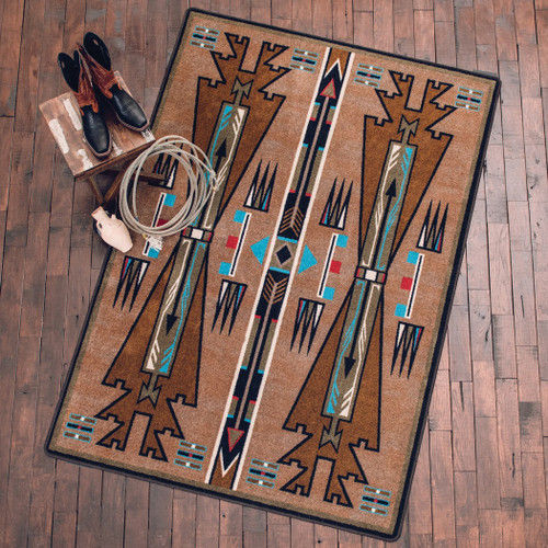 Horse Thieves Turquoise Rug Collection