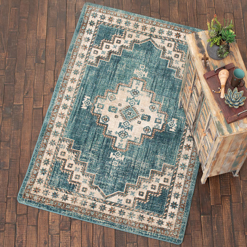 Sedona Nights Turquoise Rug Collection