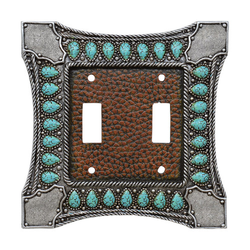 Tribal Turquoise Switch Covers
