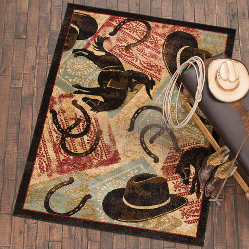 Cowboy Icons Rug Collection