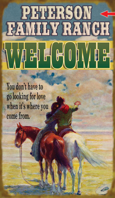 Western Welcome Sign