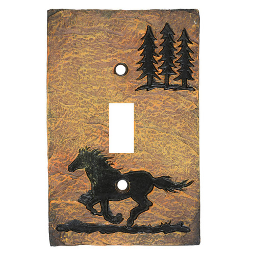Wild Horse Stone Switch Covers