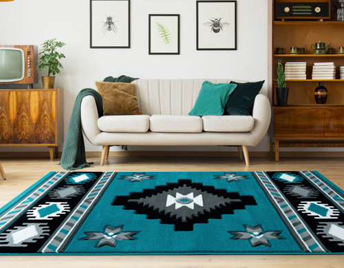Star Vision Turquoise Rug Collection
