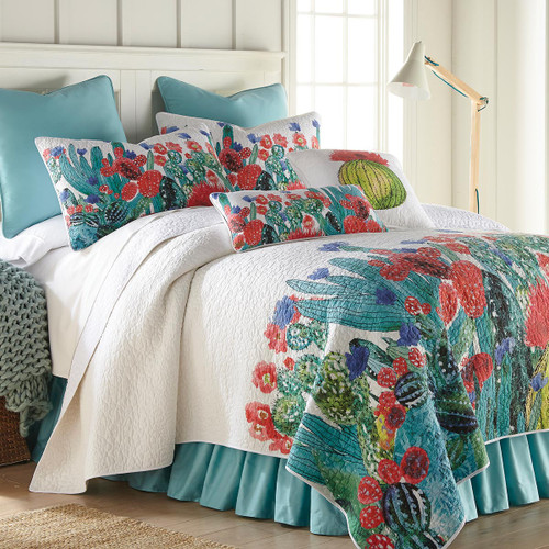 Cactus Flowers Quilt Bedding Collection