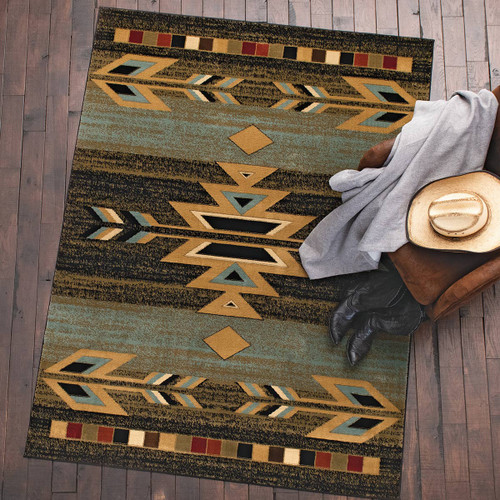 Santa Fe Ebony Rug Collection
