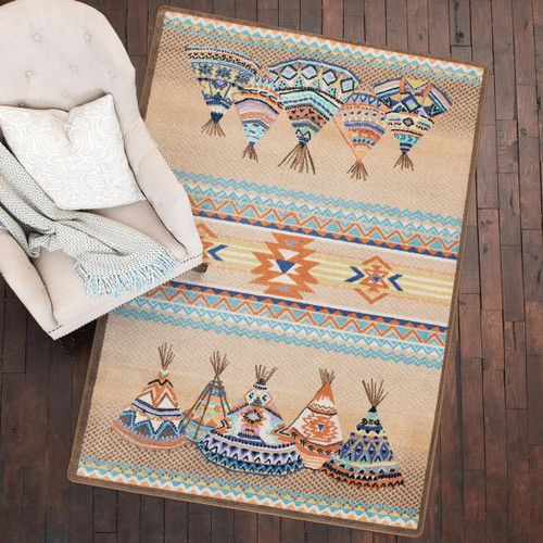 Southwest Tepees Natural Rug Collection