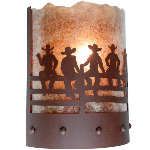 After the Roundup Wall Sconce - Rust