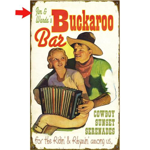 Buckaroo Bar Personalized Sign - 23 x 39